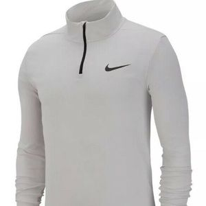 Nike Mens Quarter-Zip Long sleeve T-shirt Top
